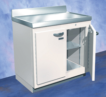 244-190 Lead Lined Preparation Enclosure Base Cabinet