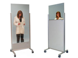 042580-582 Clear Lead Mobile X-Ray Barriers