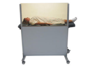 Clear-Lead Mobile Nuclear medicine barrier 042-585