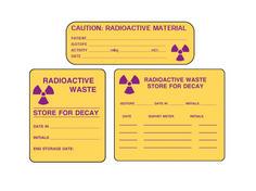 radioactive warning labels